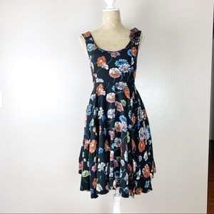 Anthropologie Moulinette Soeurs 3D Floral Dress